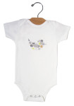 Grey Dot Bird_onesie